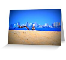 Long Beach Horizon Greeting Card