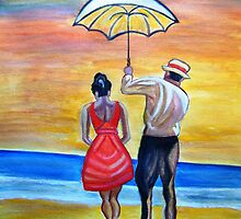 Romance on the Beach by mkanvinde
