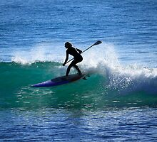 Woman Stand Up Paddleboarder by Noel Elliot