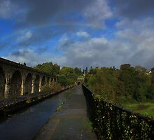 Rainbow over Chirk Aqueduct by turniptowers