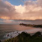 Eerie Rain Cloud at Sunset! Forster, Nth. N.S.W. Coast. by Rita Blom