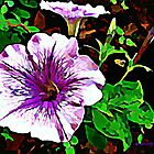 Purple Petunia Watercolor by Lisa Taylor