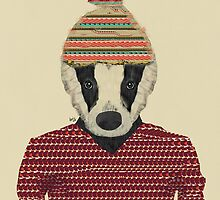 Seb the badger  by bri-b