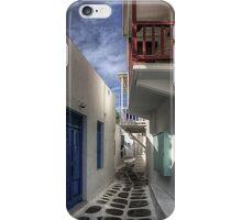 Mykonos Balcony iPhone Case/Skin