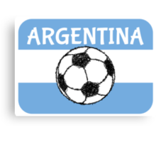 Football, Argentina  Canvas Print