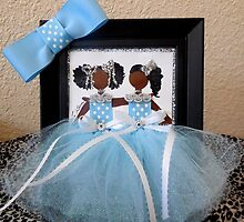 Twins with bow Greeting Card by Stacy LeGras