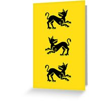 Clegane Sigil Greeting Card