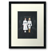 SKYWALKER TWINS Framed Print