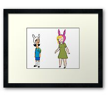 Fionna and Louise Crossover Framed Print
