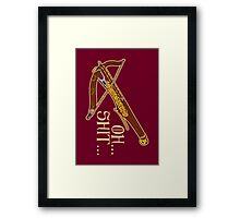 Game of Crossbows Framed Print
