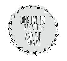 "All Time Low ""The Reckless & The Brave"" Throw Pillow by sweeterthanlove"