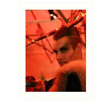 Dark Mofo Winter Feist 2014 Reindeer man 2 Art Print