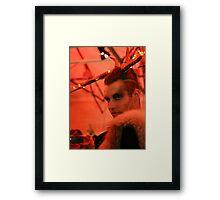 Dark Mofo Winter Feist 2014 Reindeer man 2 Framed Print