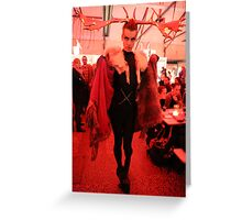 Dark Mofo Winter Feist 2014 Reindeer man  4 Greeting Card