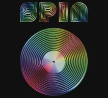 Spin - Vinyl LP Record & Text - Metallic - Rainbow by graphix