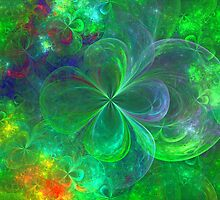 Crystal 4 Leaf Clovers by James Brotherton