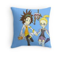 Steampunk Cloudy Throw Pillow