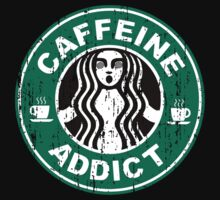 Caffeine Addict Distressed by geekogeek
