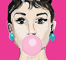 Audrey Hepburn Bubblegum and Candy by underwatercity