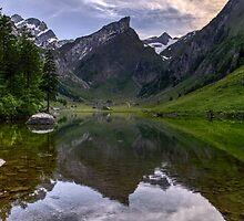 Beautiful Swiss Mountain Scenery - Amazing Seealpsee Vista Photo by deanworld