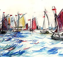 Start of the Rum Regatta by Alexander Harry Morrison
