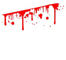 Slashed wound blood spatter bleeding to death by Style-O-Mat