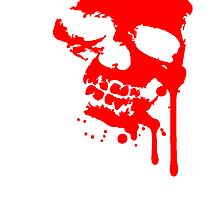 Blood drops splatter skull skull by Style-O-Mat