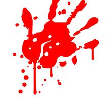 Blood stain bloody handprint by Style-O-Mat