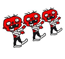 3 funny little comic cartoon zombies by Style-O-Mat