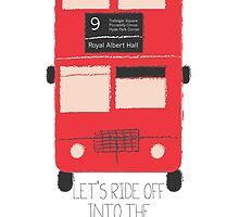 Ride off into the sunset - London Double Decker Bus by CorrieJacobs