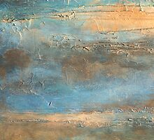 COASTAL MORNING Contemporary Abstract Beach Painting Artist Holly Anderson by hollyanderson