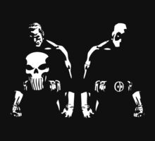 Punisher & Deadpool by UchimataMan