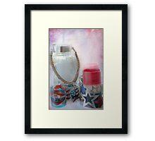 Red White and Blue Framed Print