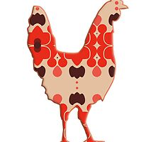 Rooster Cock Silhouette retro by surgedesigns