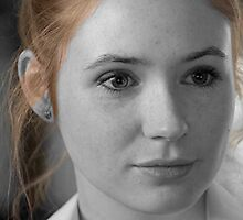 Amy Pond 2 Black and White by Themaninthefez