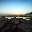 Lake Folsom at Sundown by Polly Peacock