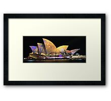 Sydney and the Vivid Festival Framed Print