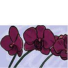 Purple Orchids by serenada