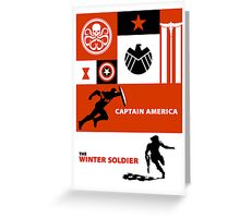 captain america: the winter soldier Greeting Card