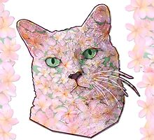 Flower Face Cat by amanda metalcat
