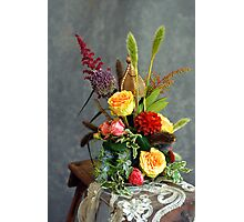 The bridal  floral arrangements on canvas bg3 Photographic Print