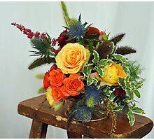 The bridal  floral arrangements on canvas bg5 Photographic Print
