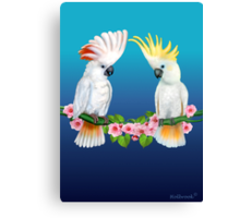 COCKATOO COURTSHIP Canvas Print