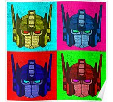 Optimus Prime - 4 Pop Art images with text Poster