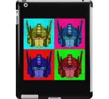 Optimus Prime - 4 Pop Art images with text iPad Case/Skin