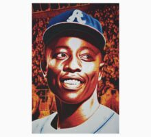 Hank Aaron Brave Homerun King by JMCSharpieArt