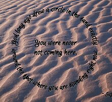 Circle in the sand by Renee Chamberlin