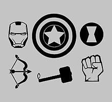 Avengers icons by Mellark90