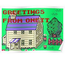 Earthbound Greetings From Onett Poster