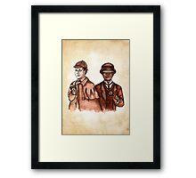Data Holmes and Geordi Watson Framed Print